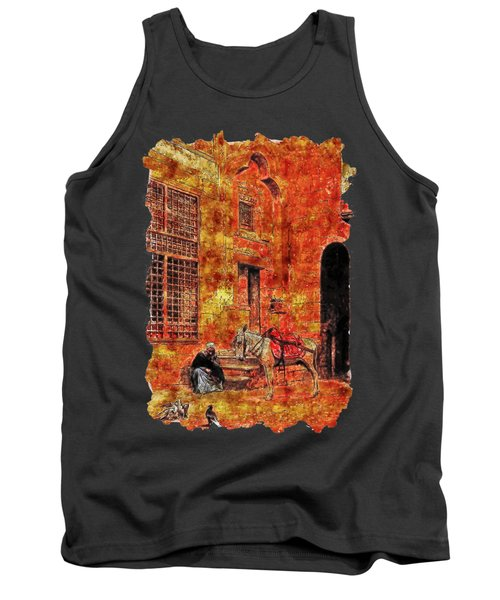 Impressionist Watercolor Drawing - Carrier Tank Top