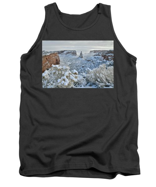 Independence Monument In Snow Tank Top