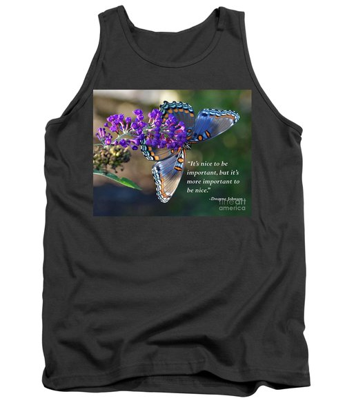 Inspiration - Red-spotted Purple Tank Top