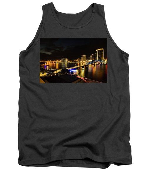 Jacksonville Skyline By Night Tank Top