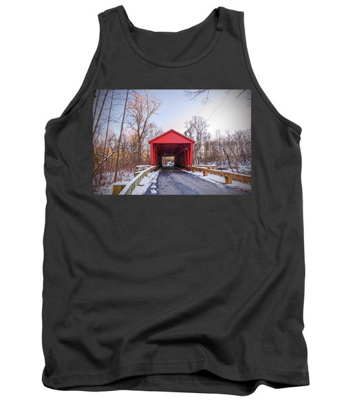 Jericho Covered Bridge Wide View Tank Top
