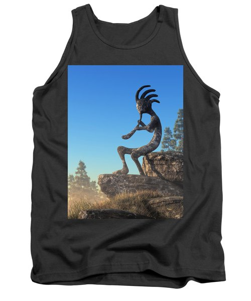 Kokopelli Statue Tank Top