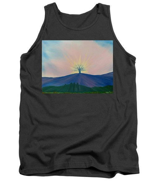 Tank Top featuring the painting Komorebi by Kevin Daly