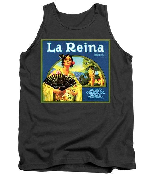 La Reina Rialto Oranges, San Bernardino California, 1920s Crate Label Tank Top