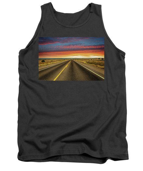 Leaving Lubbock Vanishing Point Tank Top