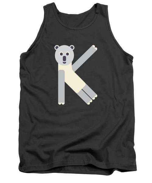 Letter K - Animal Alphabet - Koala Monogram Tank Top