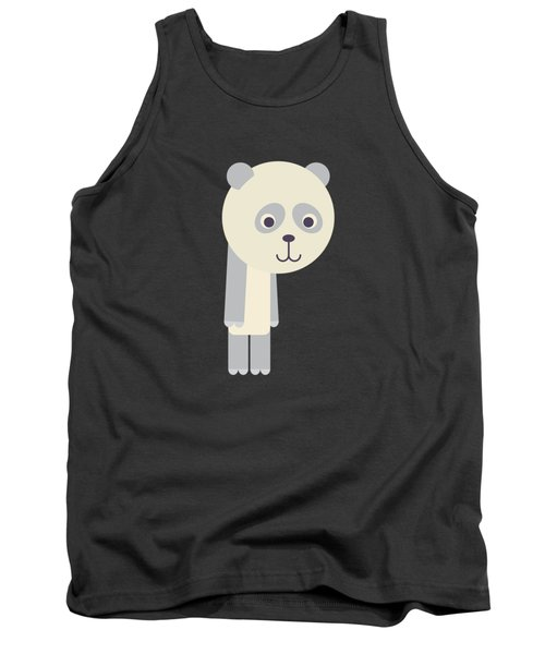 Letter P - Animal Alphabet - Panda Monogram Tank Top