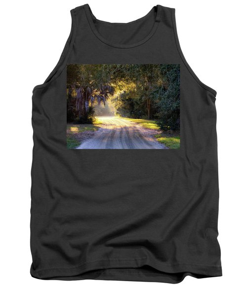 Light, Shadows And An Old Dirt Road Tank Top