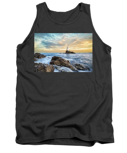 Lighthouse In Ahtopol, Bulgaria Tank Top