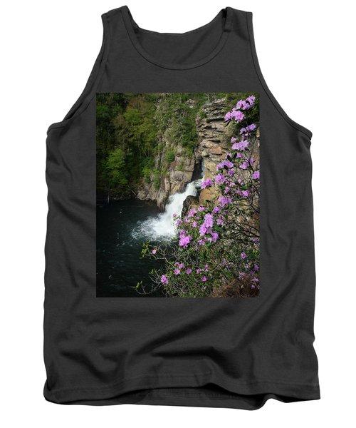 Linville Falls Carolina Rhododendron Tank Top