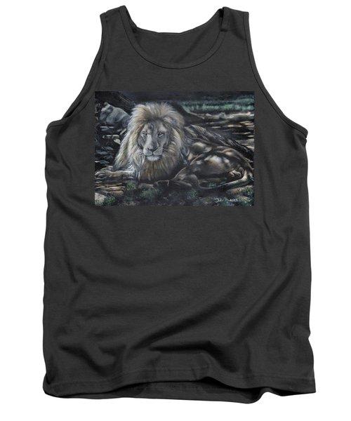 Lion In Dappled Shade Tank Top