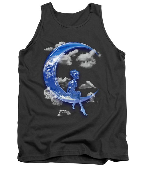 Little Girl Over The Moon Tank Top