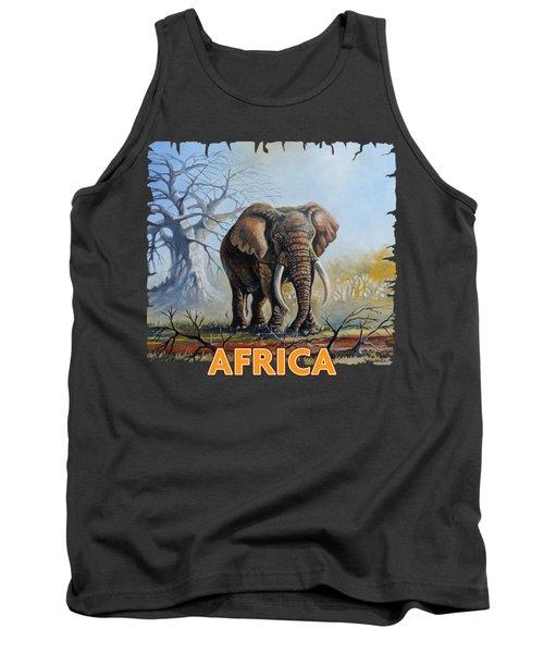 Lone Elephant Browsing Tank Top