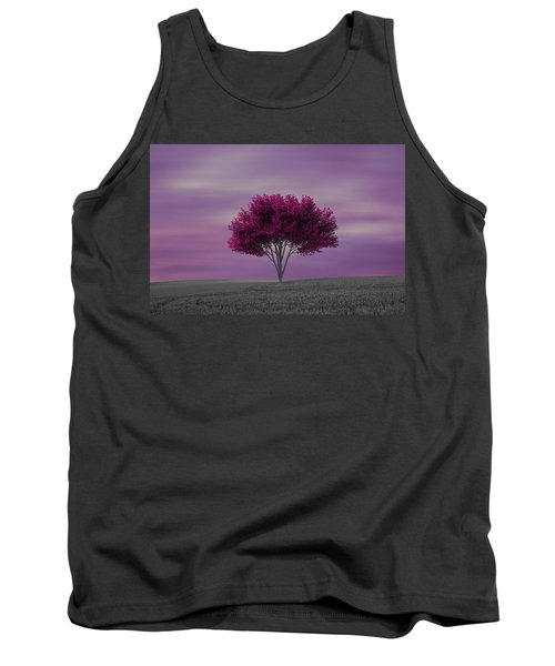 Lonely Tree At Purple Sunset Tank Top