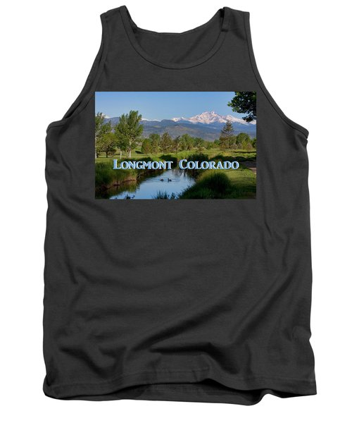 Tank Top featuring the photograph Longmont Colorado Twin Peaks View Poster by James BO Insogna