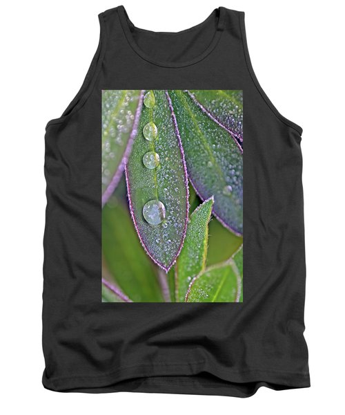 Lupin Leaves And Waterdrops Tank Top