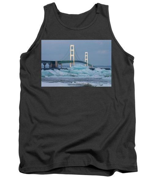Mackinac Bridge In Ice 2161809 Tank Top