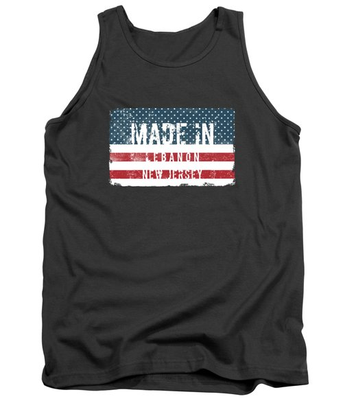 Made In Lebanon, New Jersey Tank Top