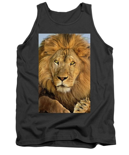 Male African Lion Portrait Wildlife Rescue Tank Top