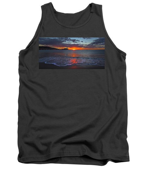 Malibu Pier Sunrise Tank Top