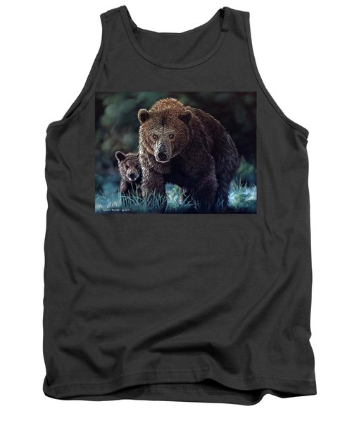Mama Brown With Cubs Tank Top