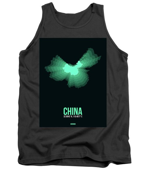 Map Of China 3 Tank Top