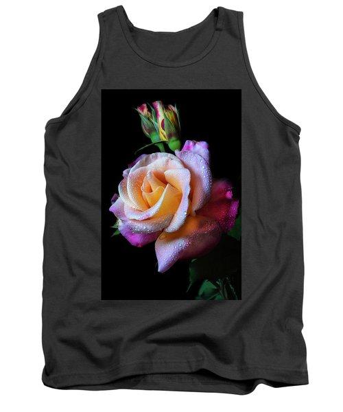 Mardi Gras Rose Portrait Tank Top