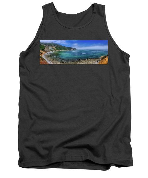 Marine Layer Over Bluff Cove Panorama Tank Top