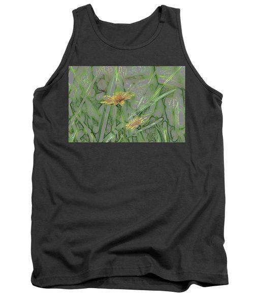 Marsh Flower Abstract Tank Top