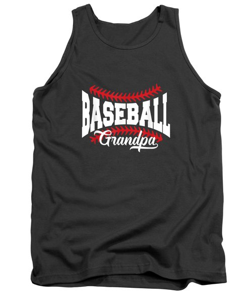 Mens Baseball Grandpa T-shirt Tank Top