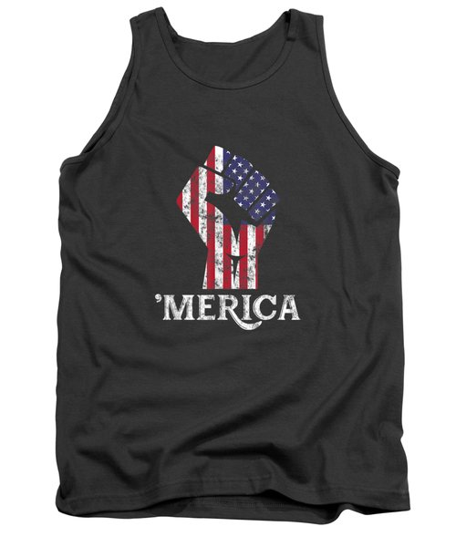 Merica American Flag Shirt- 4th July Independence Day Tshirt Tank Top
