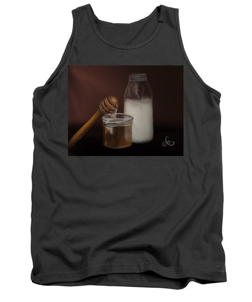 Tank Top featuring the painting Milk And Honey  by Fe Jones