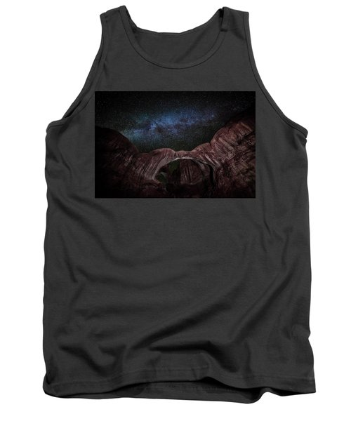 Tank Top featuring the photograph Milky Way At Double Arch by David Morefield