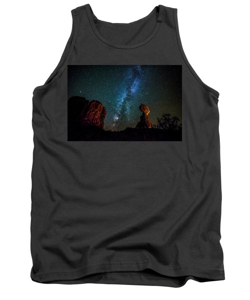 Tank Top featuring the photograph Milky Way Over Balanced Rock by David Morefield
