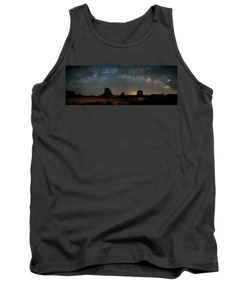 Milky Way Over Monument Valley Tank Top