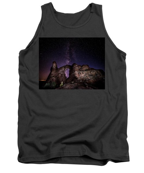 Tank Top featuring the photograph Milky Way Over Turret Arch by David Morefield