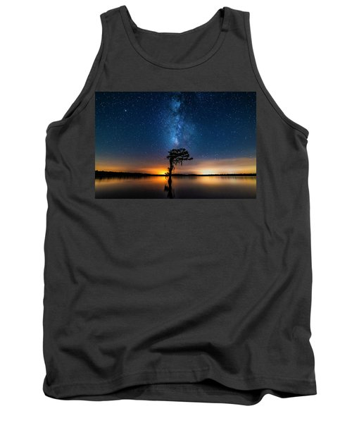 Tank Top featuring the photograph Milky Way Swamp by Andy Crawford