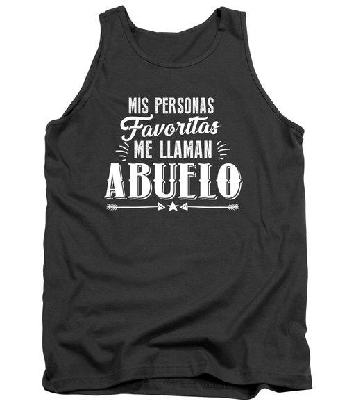 Mis Personas Favoritas Me Llaman Abuelo Spanish Father's Day Tank Top
