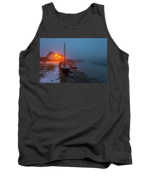Tank Top featuring the photograph Misty Rowhedge Winter Dusk by Gary Eason