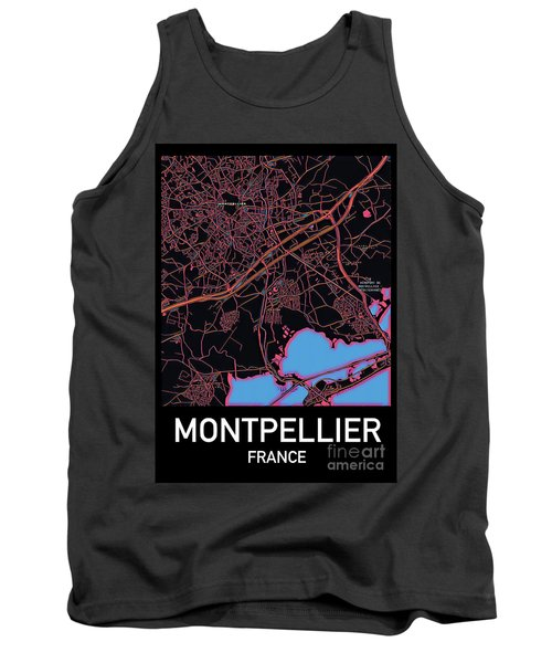 Montpellier City Map Tank Top