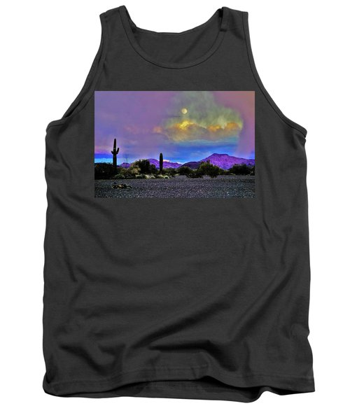Moon At Sunset In The Desert Tank Top