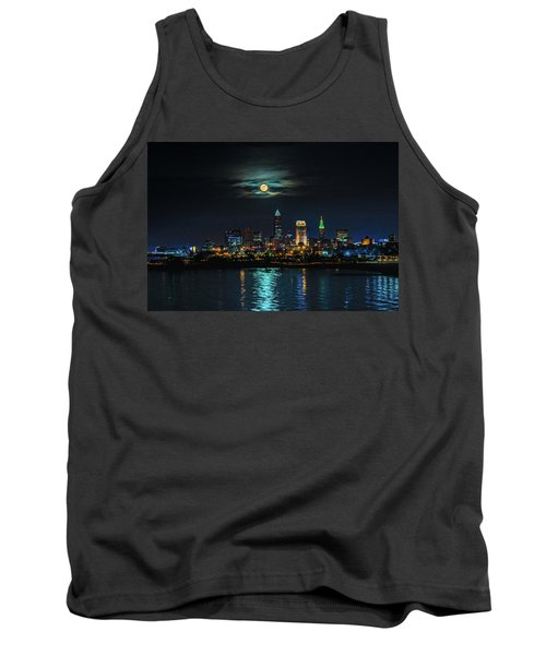 Moon Over Cleveland  Tank Top