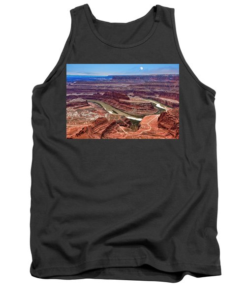 Tank Top featuring the photograph Moon Over Deadhorse Point by Andy Crawford