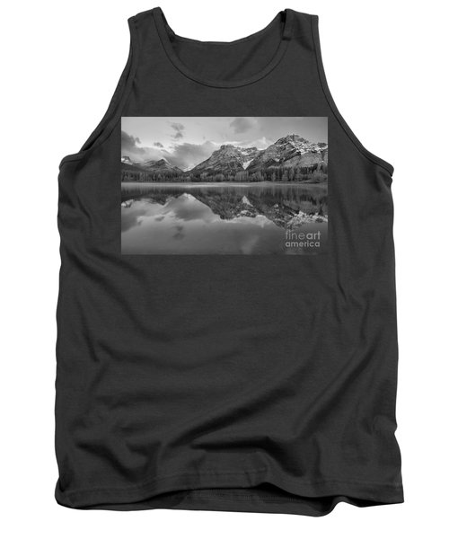 Morning Reflections At Wedge Pond Black And White Tank Top