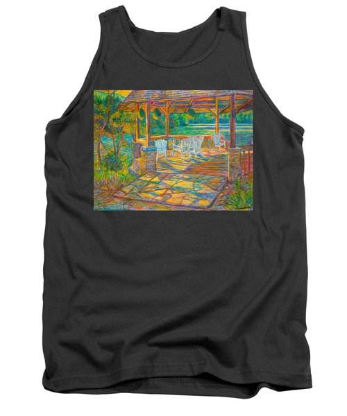 Mountain Lake Shadows Tank Top