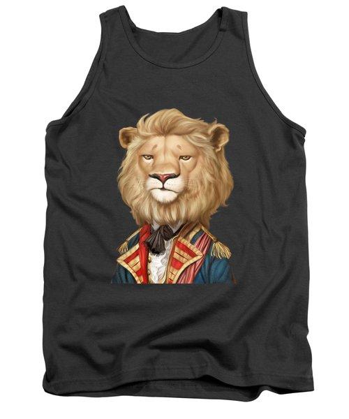 Cool Funny Leo Face Lion Animal Apparel Print Design Tank Top