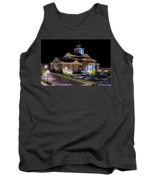 Municipal Center At Night - North Augusta Sc Tank Top