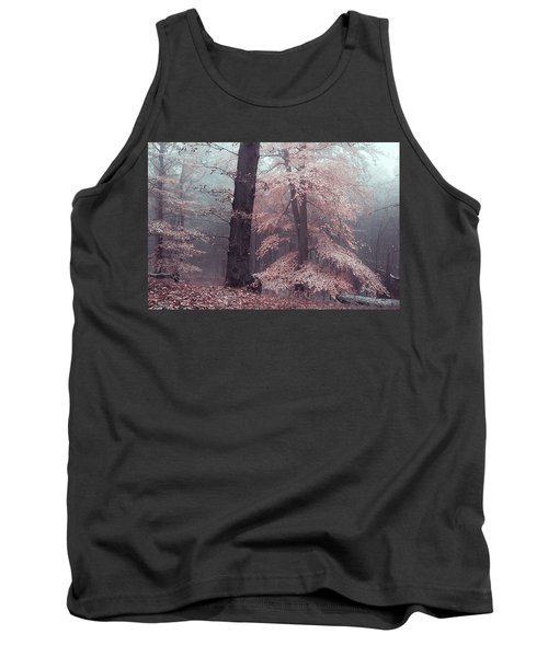 Mysterious Woods Silver Trees Tank Top