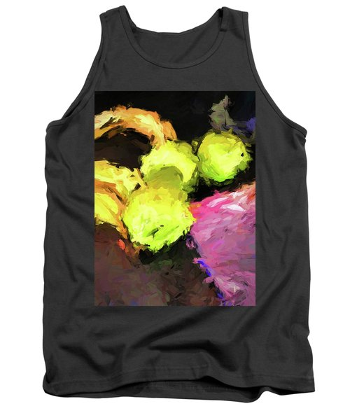 Neon Apples With Bananas Tank Top