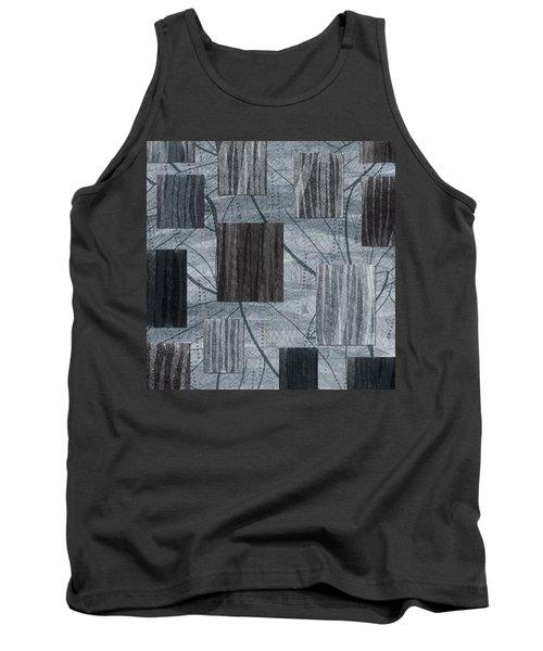 Neutral Toned Leaf Square Print Tank Top